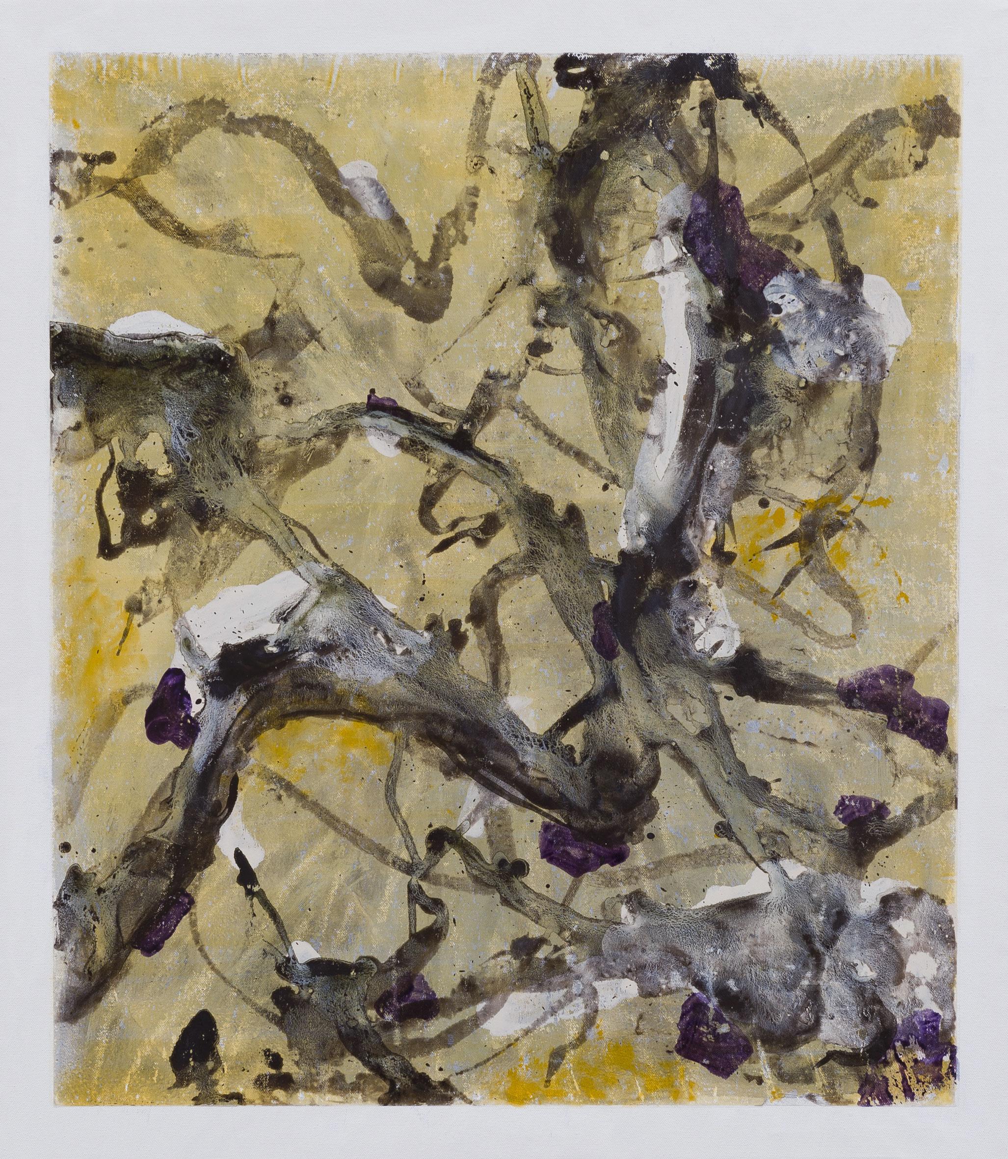 Branchage, acrylique sur toile, 70 x 60 cm, 2013.