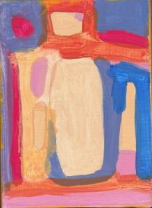 Sans Titre, huile sur toile, 22 x 16 cm.