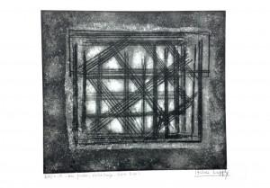 Une fenêtre : Autre temps – Autre lieu, gravure, 49 x 38 cm.