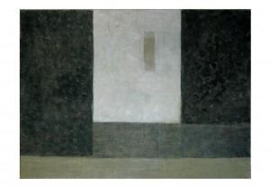 Brun, gris et noir, 2015, huile sur toile, 73 x 54 cm.