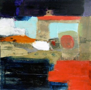 Corinne Evin, Sans titre, technique mixte, 50 x 50 cm.