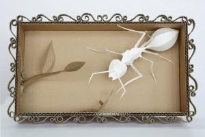 Sophie Taïs, Formica Alba, carton et papier, 40 x 24 cm.